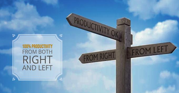 Producividad al 100% tanto de derecha como de izquierda